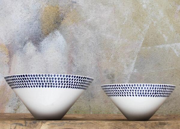 Indigo Drop Bowls