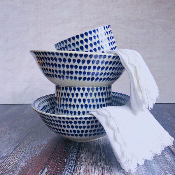 Indigo Drop Tableware