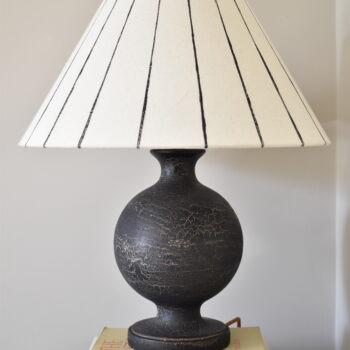 Urku Round Lamp Large Black Stripe Lampshade