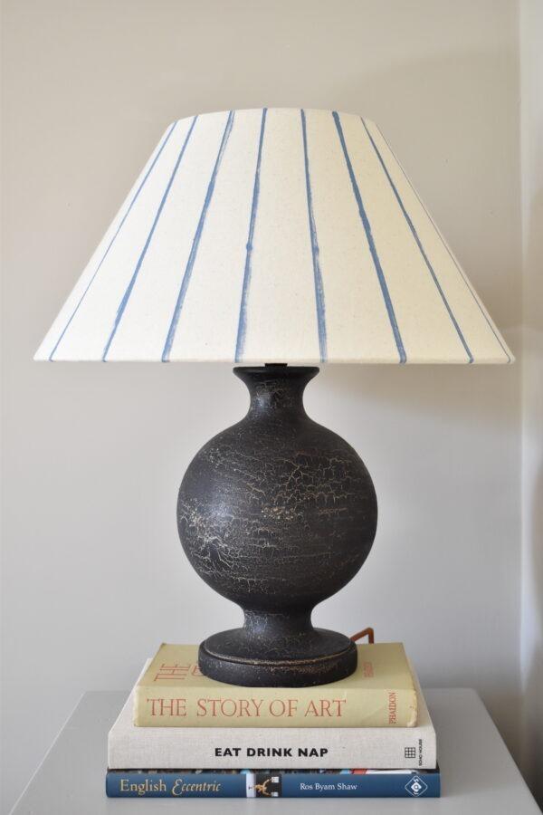 Urku Round Lamp Large Blue Stripe Lampshade